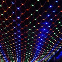Led String Lights 3M x 2M 200LEDs Net Mesh Fairy Twinkle flash lámpara Home Garden Navidad boda Navidad guirnalda decoración luz de noche