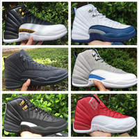2018 men 12s Basketball Shoes Best XII ovo white Flu Game GS...
