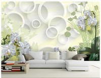 Free shipping High Quality Custom 3d wallpaper murals Clivia...