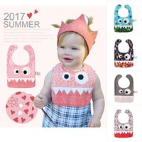 2017 Babys INS Bibs Burp Cloths Little Monsters Cartone animato Saliva Asciugamano Baby Cotton Saliva Bavaglino per bambini Bavaglino per bambini