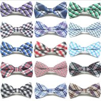 Cute Baby Boys Cravatte Plaid Bowknot Accessori per bambini Party Wear Moda classica Check bambini Tie Bow