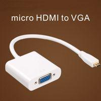 micro HDMI al cavo dati VGA con video audio cavo dell'adattatore del convertitore per PS3 360 PC360