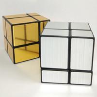 ShengShou 미러 2x2x2 매직 큐브 황금 / 실버 전문적인 자기 속도를 강화 매직 큐브 큐브 큐보 매직 퍼즐 장난감
