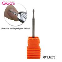 1 adet Çivi Tırnak Elektrikli Temiz Manikür Pedikür için Bit Ucu 3/32 Shank Matkap Makinesi Tırnak Salonu Karbür Döner Matkap dosya