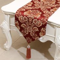짧은 길이 엠보싱 자카드 테이블 러너 유럽 아메리칸 스타일 하이 엔드 커피 테이블 천으로 패션 간단한 식탁 매트 150x33 cm