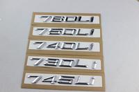 Auto styling neue ABS schwarz / silber 745 730 740 750 760 LI Auto refit Verschiebung emblems.car Schwanz Dekor Aufkleber für BMW 7er