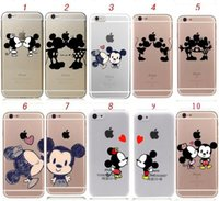 Minnie Mickey Mouse Cartoon couple kissing TPU Case Back Cov...