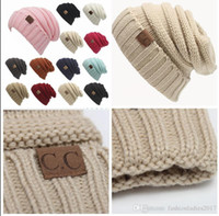 CC Knitted Hats Beanies cc Trendy Winter Beanie for women Wa...
