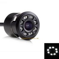 170 Wide Angle 8 LED / IR Luz Visão Noturna Carro CCD Câmera de Visão Traseira Reversa Backup Câmera Do Carro