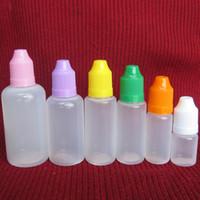 다채로운 5ml를 10ml의 15 ㎖ 20ml의 30ML 50ML 아이 증명 병 뚜껑 및 니들 팁 DHL 무료로 E 액체 플라스틱 스포이드 병 비우기