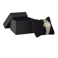 5 Stücke Schmuck Verpackung Fällen Schwarz Papier mit Schwarzem Samt Kissen Kissen Uhr Speicher Armband Organizer Geschenkbox Armreif Kette Aufbewahrungsbox