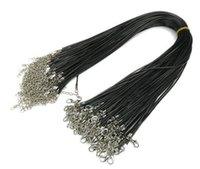 블랙 왁스 가죽 뱀 목걸이 구슬 코드 문자열 로프 와이어 DIY 쥬얼리 200pcs / lot W9