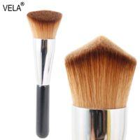 Maquillage Gros-Professionnel Pinceau Double Wedge Kabuki Pinceau Outil De Maquillage Visage Multi-usage