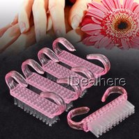 5 PCS Nail Art Cleaning Clean Brush Plastic Handle Nail Brus...