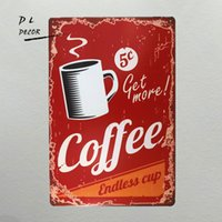 DL- Get More Coffee Vintage metal Sign Funny Humour coffee si...