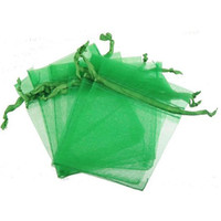 Pacote de presente Bolsas de Jóias Embalagem Pérola Bead Bags Display Cordão Lucency Retângulo Visível Organza Doce Cor Atacado 7 * 9 cm 300 pcs