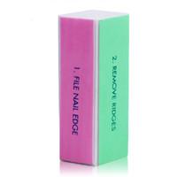 Wholesale- 50 Pz Nail Buffer E File Bloccare Quattro Taglie Strumento Nail Art Dispositivo Manicure UV Gel Nail File Strumento polacco Limas Para Manicura