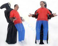 Bar Sahne Gösterisi Okul Partisi yarasa kanatları şişme giyim kostüm Cadılar Bayramı westernadult çocuklar şişme Sumo Maskot Kostüm Onesie
