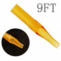 9FT 50 ШТ. Одноразовые Желтые Татуировки Насадка Советы Пластиковые Советы Для Татуировки Питания Бесплатная Доставка