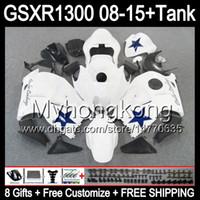 Gloss Zwart 8Gifts voor Suzuki Hayabusa GSXR1300 08 15 GSXR-1300 14MY81 GSXR 1300 GSX R1300 08 09 10 11 12 13 14 15 Kuiken White Black Kit