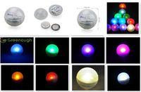 300PCS 수 중 라이트 웨딩 장식 램프 2CM 미니 다채로운 배터리 Led 방수 부동 LED 조명 라운드 공 표시 요정 진주