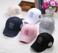 kids Baseball Cap NY Embroidery Letter Sun Hats Adjustable S...
