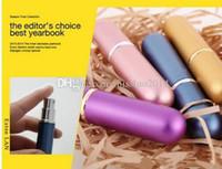 다채로운 패션 refillable 빈 atomomizers 여행 향수 병 스프레이 메이크업 애프터 셰 이브 금속 병 5ML DHL을 통해 10 색 혼합 PZ04