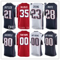 Hommes New England Jersey Patriot 35 Mike Gillislee 28 James White 23 Patrick Chung Jersey 21 Malcolm Butler 38 Brandon Bolden Jerseys