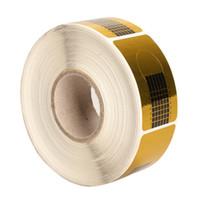 Wholesale- 500 Pz Nail Art Scolpire Extension Forms Guide Sticker Gel UV acrilico Suggerimenti FM88