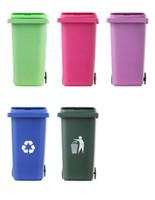 Yeni Büyük Ağız Oyuncaklar Mini Curbside Çöp Tutucu Ve Geri Dönüşüm Masa Kalem Depolama Kırtasiye Ofis Organizatör Okul Ücretsiz Nakliye Için
