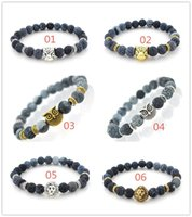 Léopard Tigre Œil Tête De Lion Bracelet Hibou Bouddha Perles Bracelets Bracelets Charme Pierre Naturelle Bracelet Yoga Bijoux Hommes Femmes