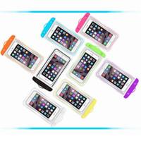 iPhone 6プラスサムスンS7エッジ携帯用携帯電話のケースの透明な防水バッグiPhone 7プラスケースの水中ポーチケースストラップ