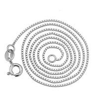 925 стерлингов серебристых серебристых коробок COX CREATHED Ожерелье женщины свадьба супер тонкий прочный бесплатный подарок для подвесок мода ювелирных изделий шарм