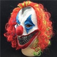 Furchtsame Clown Maske Erwachsene Halloween Evil Mörder Fancy Kleid Horror Jolly Latex Haar Ganz Gesicht Masken Party Kostüm Cosplay Zubehör