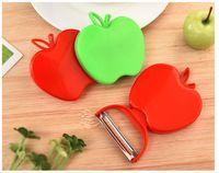 Multifunktionaler Apfelschäler, Fruchtschäler, Melonenreibe, Küchengeschirr, 15g Falten Sie den Schäler, Gemüsemesser, beweglicher Schäler, Fruchtgemüsemesser