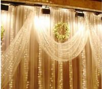 Рождественские украшения светодиодные струнные светильники 3 * 3 м для каждого комплекта праздник свадьба огни RGB продвижение светодиодные струнные лампы
