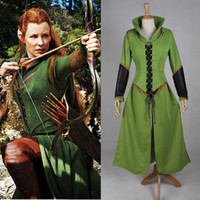 2016 Brand New Women Tauriel Outfit Superhero Costumes Hallo...