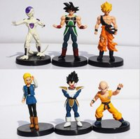 6 Pz / set Dragon Ball Z Figure DragonBall Son goku Gogeta Gotenks Action PVC Figure Da Collezione Model Toy Spedizione Gratuita