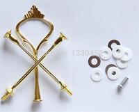 50 conjuntos / lote 3 camada bolo stands placa punho encaixe de prata ouro festa de festa de casamento haste