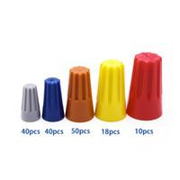 158 조각 Suyep 나사 고정 와이어 커넥터 표준 유형 P1 회색 P2 파란색 P3 주황색 P4 노란색 P6 빨간색 158pcs 가정용 조합 모음