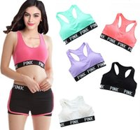 VS Pink Letter Sport Bras Chaleco Transpirable Running Fitness Gym Sports PINK Letter Fitness Seamless Underwear Ladies Tank Blouse Tops