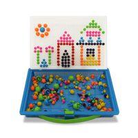 Educacional diy kits cogumelos unhas brinquedos de quebra-cabeça crianças segurar oportunamente oportunamente unha talão 296 blocos de construção criativa combinada