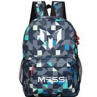أكياس mochila ميسي المراهقين logo بيع كتاب المدرسة حقيبة الظهر حقيبة القدم الساخنة لكرة القدم حقيبة السفر الرياضية هدية الكتف للأطفال 2018 ESCOL OQOX