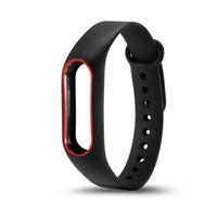 원래 Miband 2 Xiaomi Mi 밴드 2 손목 밴드에 대 한 이중 컬러 실리콘 손목 스트랩 팔찌 교체 시계 밴드