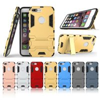 For iPhone 7 7Plus 6S 6sPlus SE Iron Man Hybrid Armor Case F...