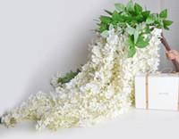 165CM 실크 등나무 Rattans 8 색 결혼식 가정 파티 꽃 장식 공급을위한 인공 등나무 꽃 Garlands 실크 포도 나무 꽃
