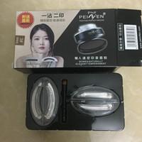 2 Form / Box Augen Make-up Stirn Stempel Siegel Augenbrauenpuder wasserdicht grau braun Augenbrauenpuder mit Augenbrauenschablonen Pinsel beste Qualität