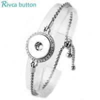 Wholesale-Slide regolabile Snap Button Bracciale 18 millimetri metallo con bottone a pressione di fascini gioielli braccialetto per le donne bottoni automatici gioielli P00975