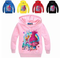 2017 New Arrivals Boys Clothes Troll Girls Hoodies and Sweat...