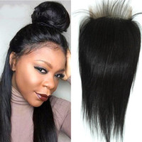 Vietnamese Human Hair Straight Lace Closure Bleached Knots Brazilian Peruvian Indian Malaysian Closure Piece with Baby Hair FDSHINE